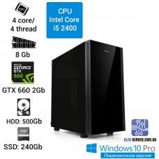 Компьютер Intel Core i5 2400, 8 ОЗУ, GeForce GTX 660 2GB