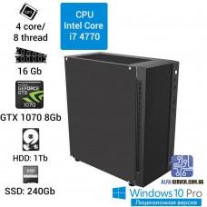 Компьютер Intel Core i7 4770, 16 ОЗУ, GeForce GTX 1070 8GB