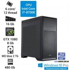 Компьютер игровой (Alfa Server) Intel Core i7-8700K
