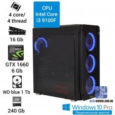 Компьютер INTEL Core i3 9100F, 16 ОЗУ, GeForce GTX 1660 6 GB
