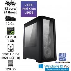 Рабочая станция/сервер 2*Intel Xeon L5638 12 ядер/24 потоков, 12 GB OЗУ, GT 210 1 GB