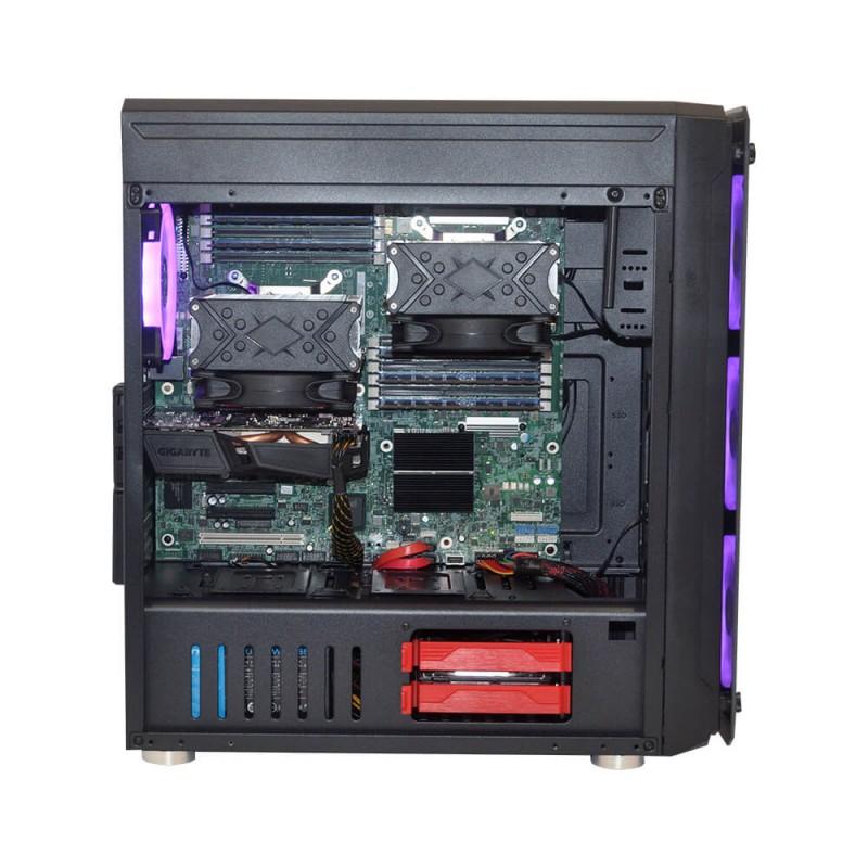 Alfa Server Workstation - графическая станция высокого уровня, отлично подходит для создания профессионального дизайна, визуализации, рендеринги и видеомонтажа.