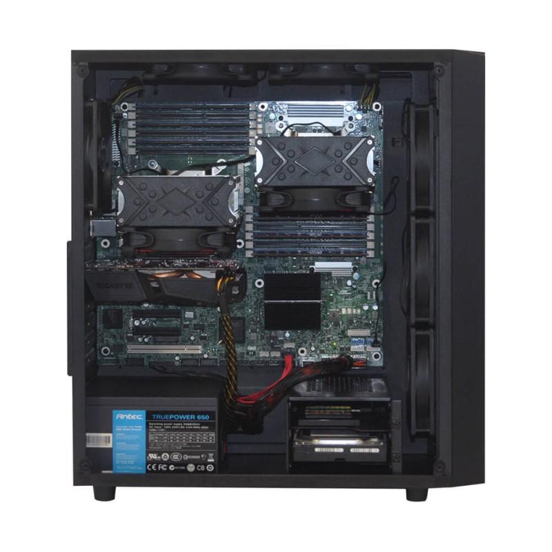 Специалисты Alfa Server создали бюджетную сборку рабочей станции на основе двухпроцессорной материнской платы серии HP Dual LGA 1366 от Intel, которая обеспечивает комфортную работу с большинством ресурсоемких графических программных продуктов.