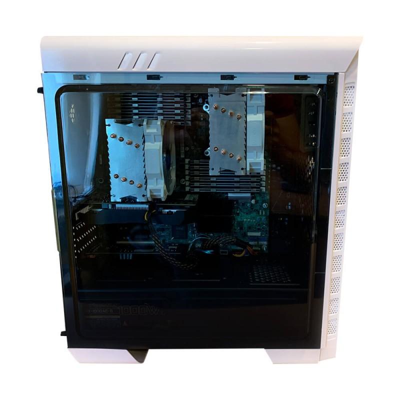 Профессиональная рабочая станция ( White ), на базе двух процессоров Intel Xeon x5650, 6 ядер 12 потоков. . Компьютер для моделирования. Купить в Киеве.