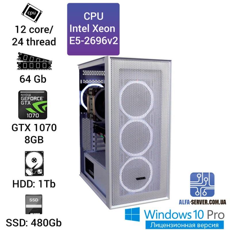 Рабочая станция высокого уровня, предназначена для видеомонтажа Full HD и ULTRA HD 4K, дизайна, визуализации и рендеринги.