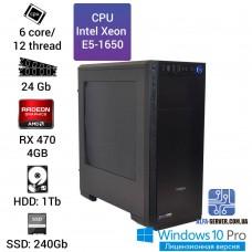 Рабочая станция Alfa Server #5 E5-1650 6 ядер 12 потоков, ОЗУ 324GB, AMD Radeon RX 470 4GB