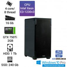 Рабочая станция Intel Xeon #17 E3-1230v3, 16 ОЗУ, GeForce GTX 750Ti 2GB