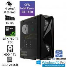 Рабочая станция Alfa Server #7 E5-1620 4 ядра 8 потоков, ОЗУ 16GB, GeForce GTX 750 Ti 2Gb