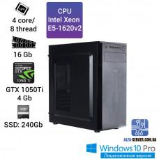 Компьютер Alfa Server #12 E5-1620v2 4 ядра 8 потоков, ОЗУ 16GB, GeForce GTX 1050Ti 4GB
