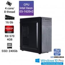 Компьютер Alfa Server #12 E5-1620v2 4 ядра 8 потоков, ОЗУ 16GB, AMD Radeon RX 570 4GB