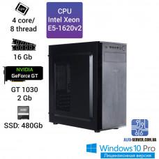 Компьютер Alfa Server #12 E5-1620v2 4 ядра 8 потоков, ОЗУ 16GB, GeForce GT 1030 2GB