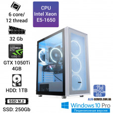 Рабочая станция E5-1650, 6 ядер 12 потоков, 32 ОЗУ, GeForce GTX 1050Ti 4GB