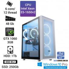 Рабочая станция Alfa Server #6 E5-1650v2 6 ядер 12 потоков, ОЗУ 48 GB, GTX 1060 3GB