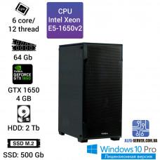 Рабочая станция Alfa Server #21 E5-1650v2 6 ядер 12 потоков, ОЗУ 64 GB, GTX 1650 4GB
