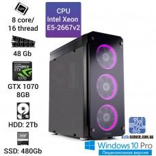 Рабочая станция Alfa Server #11 E5-2667v2 8 ядер, 16 потоков, ОЗУ 48GB, GTX 1070 8GB