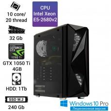 Рабочая станция Alfa Server #1 E5 2680v2 10 ядер 20 потоков, ОЗУ 32GB, GeForce GTX 1050Ti 4GB
