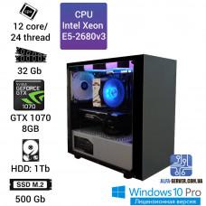 Рабочая станция Alfa Server #10 E5-2680v3 12 ядер, 24 потока, ОЗУ 32 GB, GTX 1070 8GB
