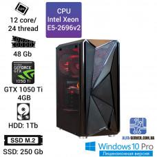 Рабочая станция Alfa Server #5 E5-2696v2 12 ядер 24 потока, ОЗУ 48 GB, GeForce GTX 1050 Ti 4GB