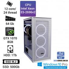 Рабочая станция Alfa Server #3 E5 2696v2 12 ядер 24 потока, ОЗУ 64GB, Nvidia GeForce GTX 1070 8GB