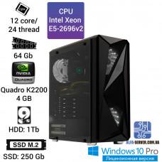 Рабочая станция Alfa Server #4 E5 2696v2 12 ядер 24 потока, ОЗУ 64GB,Nvidia Quadro K2200 4 GB