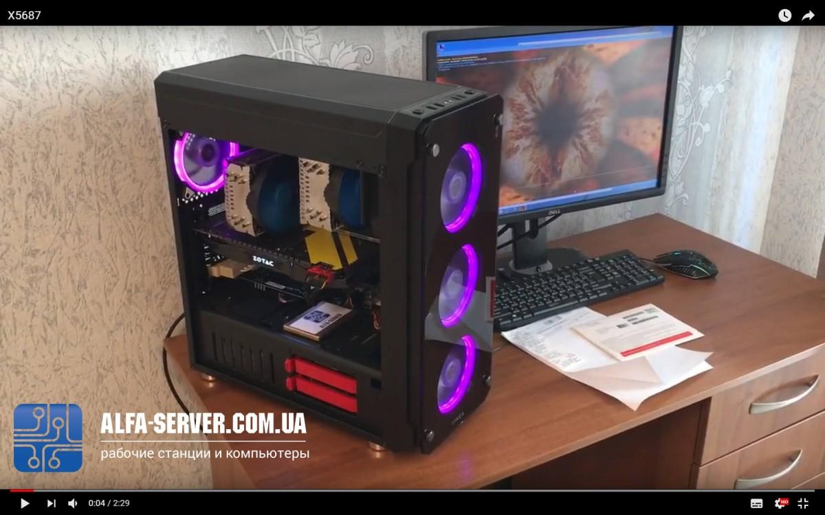 Видео обзор рабочей станции на 2x Intel Xeon X5687, 8 ядер 16 потока, 32 ОЗУ, GTX 1070 8 gb