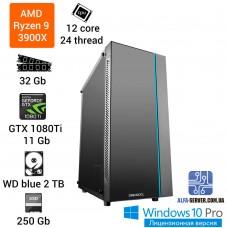 Игровой компьютер AMD Ryzen 9 3900X , 12 ядер 24 потока 32 ОЗУ, GeForce GTX 1080TI 11 GB