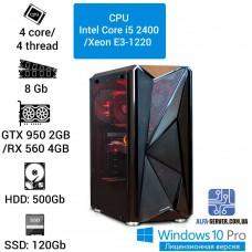 Компьютер игровой (i5-2400/Xeon E3-1220), 8 ОЗУ, (GTX 950 2GB/RX 560 4GB)