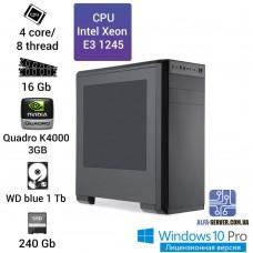 Рабочая станция Intel Xeon E3 1245 16 ОЗУ Quadro K4000 3GB